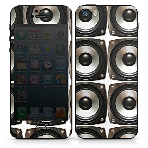 Apple iPhone 5s Case Skin Sticker aus Vinyl-Folie Aufkleber Sound Lautsprecher Boxen DesignSkins® glänzend