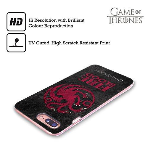 Ufficiale HBO Game Of Thrones Stark Sigilli Scuri Cover Retro Rigida per Apple iPhone X Targaryen