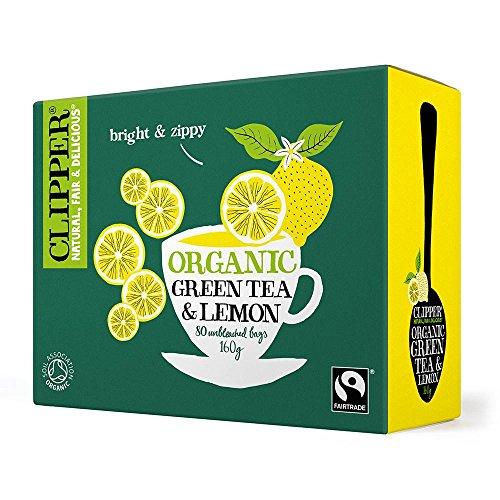 Clipper Organic Green & Lemon 80 Bags 6 x 80 bags