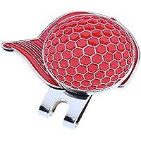 MagiDeal Clip de Gorra de Golf de Aleación de Marcador de Bola Magnética Accesorio de Tapa de Correa de Zapatos 4 Colores - Rojo