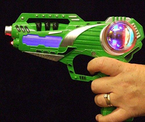 ALLKINDATHINGS Bambini Lampeggiante LED Gunfight Spazio Pistola Ray Gun con Suono sparo Laser Giocattolo Verde
