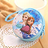 #9: HUMBLE FROZEN-BLUEGIRLS Zipper Cable Coin Earphone Earbuds Storage Case Carrying Pouch Bag SD Card Holder Mini Box Knitting-needle Case.