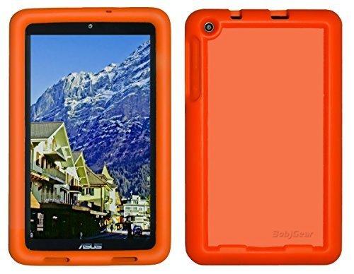 Bobj Silikon-Hulle Heavy Duty Tasche fur ASUS MeMO Pad 8 Tablette (ME181C, ME181CX, K011, MG8, MG181C, MG181CX) und ASUS VivoTab 8 (M81C, K01G) - BobjGear Schutzhulle (Orange)
