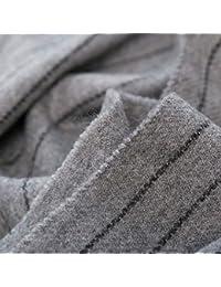 Trend Fabric Foulard Hommes Rayures Glands Automne Et l hiver  Épaississement en Cachemire Sauvage Écharpe 9394363c34b