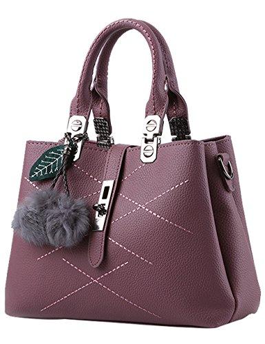 Menschwear Damen Handtasche Marken Handtaschen Elegant Taschen Shopper Reissverschluss Frauen Handtaschen Schwarz Rot-Braun