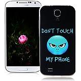 XiaoXiMi Funda Samsung Galaxy S4 Carcasa de Silicona Caucho Gel para Samsung Galaxy S4 Soft TPU Silicone Case Cover Funda Protectora Carcasa Blanda Caso Suave Flexible Caja Delgado Ligero Casco Anti Rasguños Anti Choque Funda con Patrón de Diseño único - Genio Azul