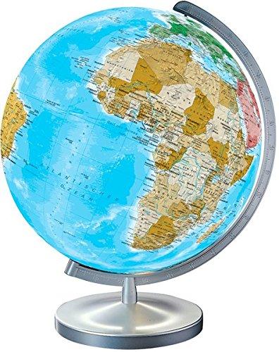 Globus Mit Beleuchtung Und Lupe | Idena 569904 Geografischer Globus Mit Licht Und Lupe 30 Cm