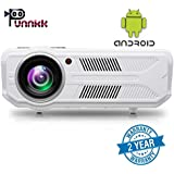 OOZE Punnkk P12A Android and WiFi 3500 Lumens LED Projector with HDMI/VGA/USB Ports