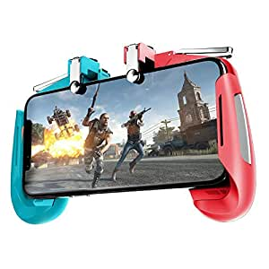 "OAHU® Mobile Game Controller for PUBG Mobile Controller L1R1 Mobile Game Trigger Joystick Gamepad for 4-6.5"" iOS & Android Phone"