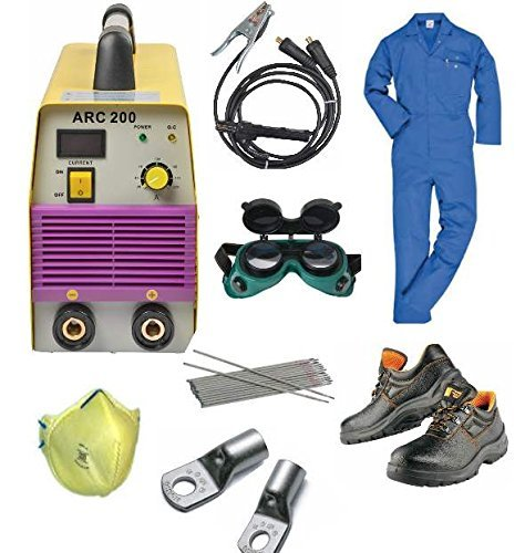 Tools Centre Compact Powerful Welding Inverter Machine-Arc 200 With Free Safety Equipments & Welding Accessories Goggle combo offer. Combo Green Compact