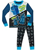 DOCTOR WHO Boys Tardis and Daleks Pyjamas Snuggle Fit Ages 4 to 13 Years