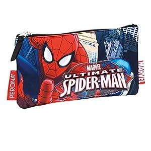 Spiderman – Portatodo Plano, Color Rojo y Azul (Montichelvo 29976)
