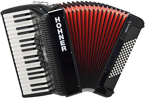 Hohner Bravo III 72 Akkordeon Schwarz