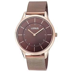 Lorus RTA46AX9 Men's/Gents Brown Ultra Slim Dress Mesh Bracelet Watch