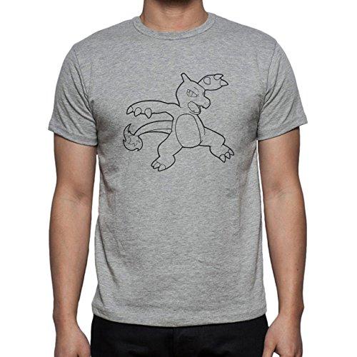 Pokemon Charmeleon Fire Dragon No Color Herren T-Shirt Grau
