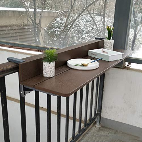 Ailj Klappbare Wand-Werkbank, Balkongeländer Im Innenhof Hängender Tisch Wand Schreibtisch Desktop Extender - Grill Balkongeländer