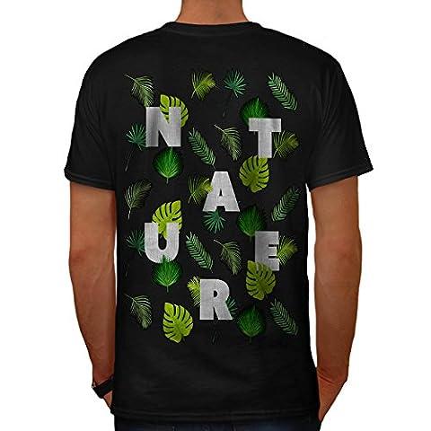 Blatt Baum Muster Natur Öko Freundlich Herren XL T-shirt Zurück | Wellcoda