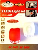 MEETLOCKS LED Bike Lights Front and Back Frog Light Bicycle Wheel Light 1 Pair White and Red Kit Sets for Cycling Lights