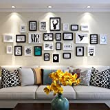 Unbekannt Bilderrahmen-Set Fotowand hölzerne Fotorahmenwand einfache Wohnzimmerwand-Fotorahmenhauptkombination Sofa-Hintergrundwand-Fotorahmen Schlafzimmerfotowand