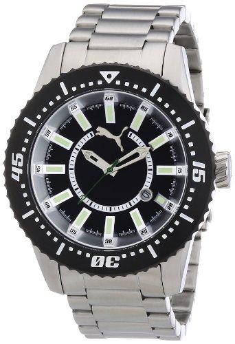 Puma Time A.PU102031001 - Reloj unisex de cuarzo, correa de acero inoxidable color plata