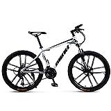 SIER Vélo de Montagne Adulte 26 Pouces 30 Vitesses Une Roue Tout-Terrain à Vitesse Variable absorbeur de Choc Hommes et Femmes vélo vélo,White