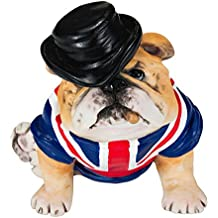 Chapman Sculptures British Bulldog with Union Jack Hand Painted Statue 7.8cm