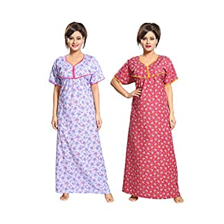 c50ebc67d9 You're viewing: TUCUTE Women's Cotton Beautiful Floral Print Nighty/Night  Gown/Night Dress/Nightwear (Free Size) (Pack of 2 Pcs) Smart Combo of 2  Pieces ...