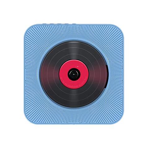Lindahaot Bluetooth DVD VCD CD-Player-drahtloser HiFi Zugschalter Lautsprecher Wand befestigte Soundbox Fernbedienung Kit Blau 16.8 * 3.6cm -