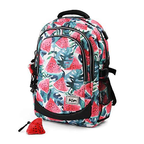 Oh My Pop Pop! Watermelon-Running HS Backpack Rucksack, 44 cm, 21 liters, Rot (Red) Preisvergleich