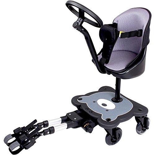 mee-go Sit N Ride 4Rad Buggy Board–Abnehmbarer Sitz bis zu 52kg und blinkenden Rädern