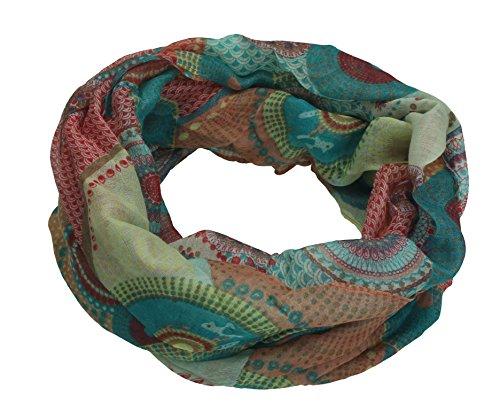 Betz foulard tube écharpe châle tour de cou motif RONDS Dessin 4