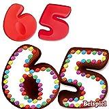 Backformen-Set Zahl 6 und 5 für 65. Geburtstag/Hochzeitstag, Silikonbackformen