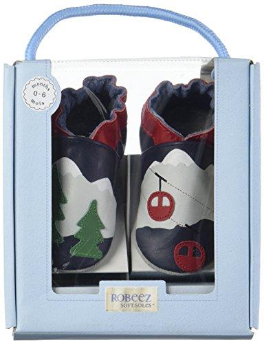 Robeez - Mountain Trees, Pantofole Bimbo 0-24 blu (marine)