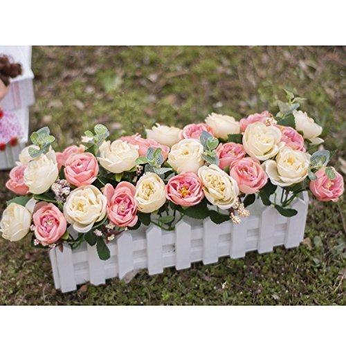 flores decorativas Artificial seda mini flores y plantas para la decoración de interiores (mucho color) en una planta de vid colgante falso falso hojas Garland Home Garden Wall Potted 30cm , 3