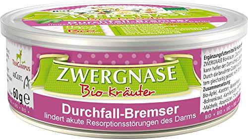 Bio Ergänzungsfuttermittel Durchfall-Bremser Pulver (Bioland) 60g Zwergnase