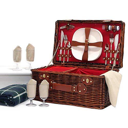 La cesta 'Redgrave' picnic para 4 personas con...