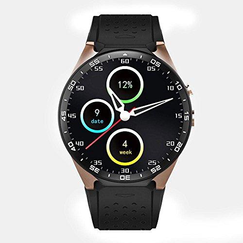 KOBWA KW88 3G WIFI Smartwatch Phone All-in-One Bluetooth Smart Watch Con GPS, Macchina Fotografica, Monitor Della Frequenza Cardiaca,fitness Polso Orologio Per IPhone Android 5.1 Smartphone,Quad Core 1.3GHz,1.39