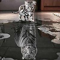 Katze und Tiger painting DIY 5D Strass Kleben Diamant Stickerei Malerei Kreuzstich Wohnkultur Handwerk