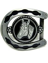 Gudeke Simple de la manera hombres patrón 3D estereoscópica de herradura de caballo hebilla de cinturón