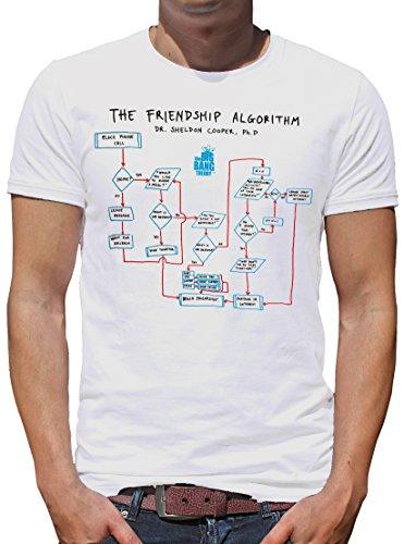 TLM The Big Bang Theory - The Friendship Algorithm T-Shirt Herren White