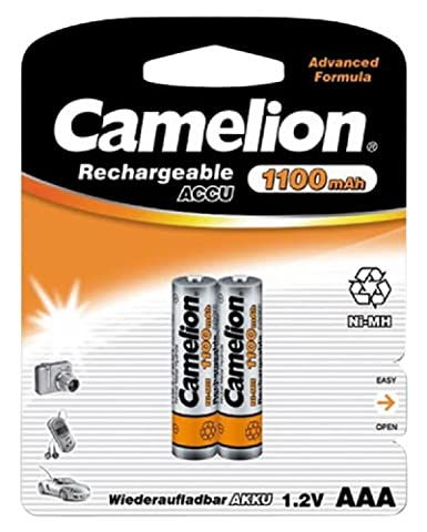 Camelion Lithium Micro Batteries 1.2V/1100mAh AAA NiMH–Pack of