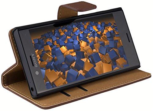 mumbi Tasche im Bookstyle für Sony Xperia XCompact Tasche braun