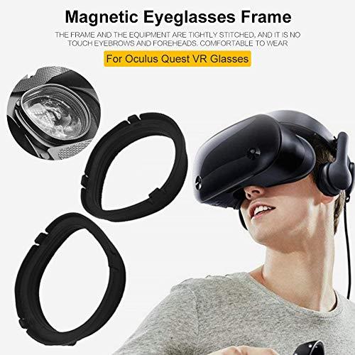 greatdaily Magnetrahmen Oculu Rift S VR, Schutzrahmen für Brillengläser mit magnetischer Basis, schnelle Demontage