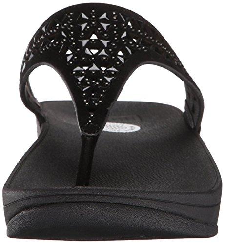FitFlop Carmel Toe-post, Sandales femme Noir - Black (All Black)
