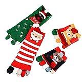 Alini AIni Weihnachten Druck Lustige Socken (4-5x Paar) Multicolor Zehensocken Five Finger Socken