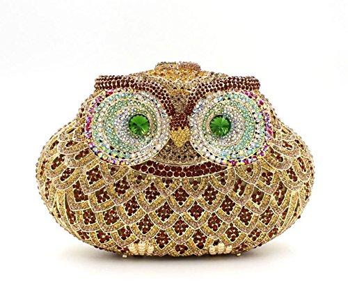 WYB Europäischen und amerikanischen Luxus hohle Diamant-Abendbeutel / hochwertigen voller Diamanten Abendtasche Hand 1