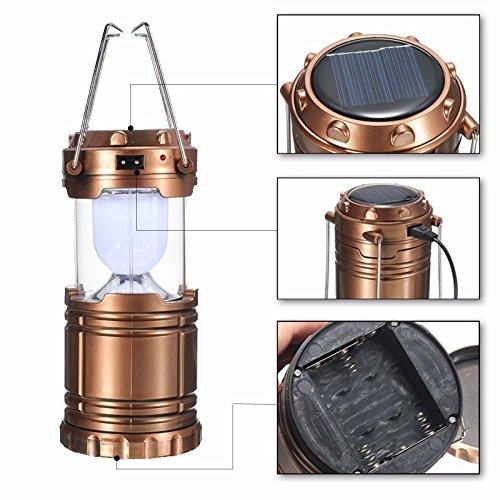 Bazaar Freien Akku Solarpanel Taschenlampe LED Camping-Zelt Licht der die Aufhängung