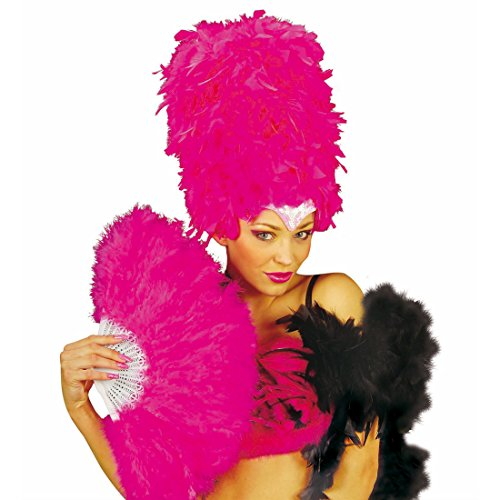 Amakando Burlesque Feder Fächer Handfächer Rio rosa Samba -