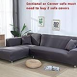 SSLBOO Gris Couleur Elastic Couch Sofa Cover Housse de canapé Housse Housses de...