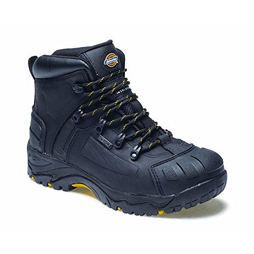 De 44 preto Uk Preta Unisexo Sapatos Segurança Adulto Ue Dickies Medway 10 84A6wt